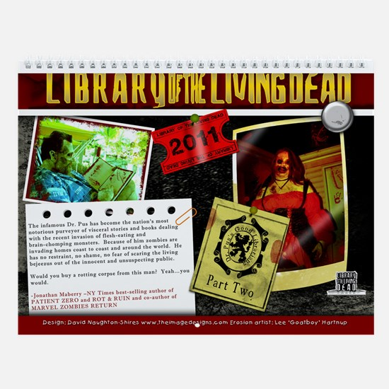 Dr Pus' Librarians Part 2 Wall Calendar