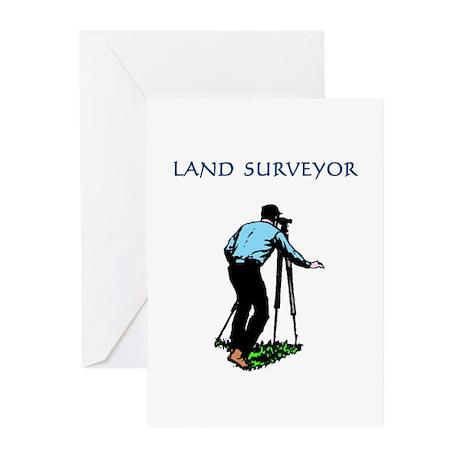 Land Surveyor Greeting Cards (10 Pk)