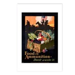 Food is Ammunition Poster Art Postcards (Package o