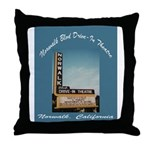 Norwalk Blvd Drive-In Theatre Throw Pillow