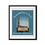 Norwalk Blvd Drive-In Theatre Framed Panel Print