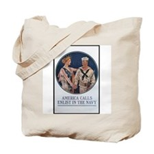 Enlist in the Navy Poster Art Tote Bag