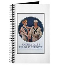 Enlist in the Navy Poster Art Journal