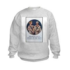 Enlist in the Navy Poster Art Sweatshirt