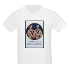 Enlist in the Navy Poster Art Kids T-Shirt