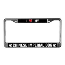 I Love My Chinese Imperial License Plate Frame