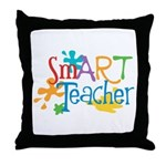 SmART Art Teacher Throw Pillow