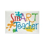 SmART Art Teacher Rectangle Magnet (100 pack)