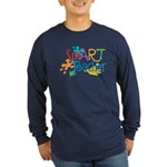SmART Art Teacher Long Sleeve Dark T-Shirt