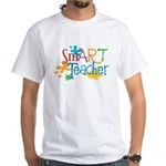 SmART Art Teacher White T-Shirt