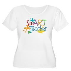 SmART Art Teacher Women's Plus Size Scoop Neck Tee