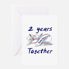 2nd anniversary Greeting Card