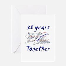 35th wedding anniversary Greeting Card
