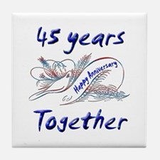Wedding anniversary favors Tile Coaster