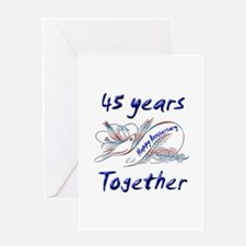 anniversary birds 45 Greeting Cards