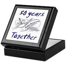 50th wedding anniversary party Keepsake Box