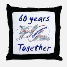 Unique 60th party Throw Pillow