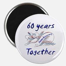 Unique 60th anniversary Magnet