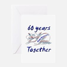 Cool 60th wedding anniversary Greeting Card