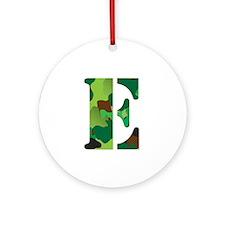 The Letter 'E' Ornament (Round)