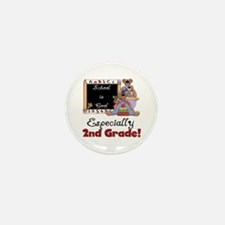 2nd Grade School is Cool Mini Button (10 pack)