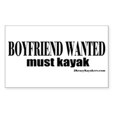 Boyfriend Wanted: Must Kayak Decal