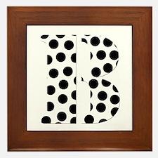 The Letter 'B' Framed Tile
