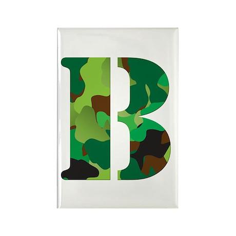 The Letter 'B' Rectangle Magnet (10 pack)