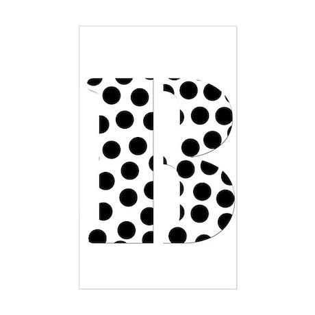 The Letter 'B' Sticker (Rectangle)