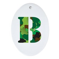 The Letter 'B' Ornament (Oval)