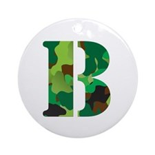 The Letter 'B' Ornament (Round)