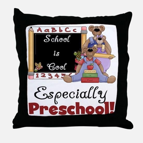 Preschool School is Cool Throw Pillow