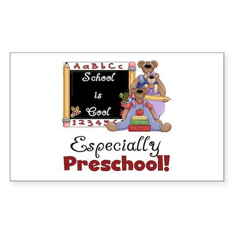 Preschool School is Cool Sticker (Rectangle)