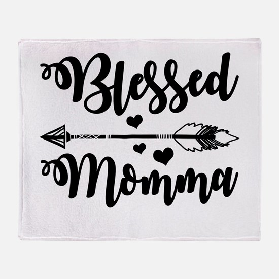 Blessed Momma Throw Blanket
