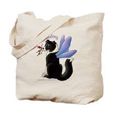 Fairy Border Collie Tote Bag