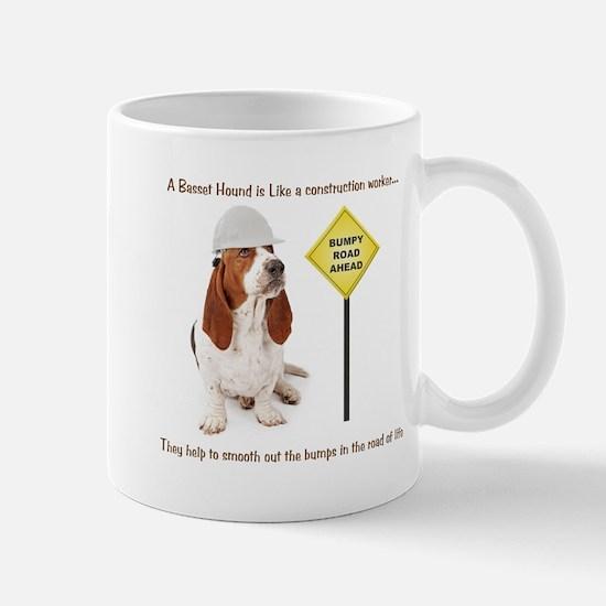 Basset Hound Construction Mug