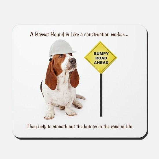 Basset Hound Construction Mousepad