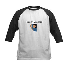 Happily Attached 2 Kids Baseball Jersey