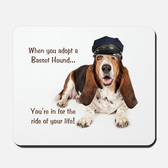 Basset Hound Chauffeur Mousepad