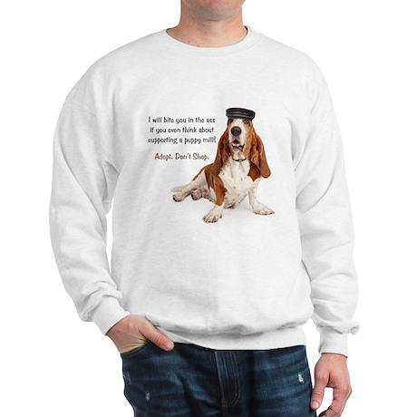 Basset Hound Biker Sweatshirt