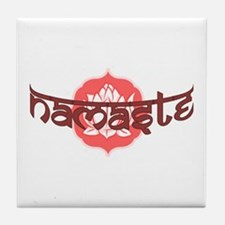 Namaste Lotus Tile Coaster