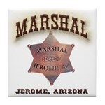 Jerome Arizona Marshal Tile Coaster