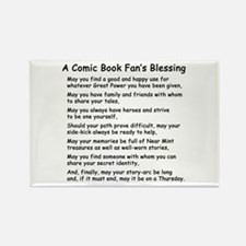 Comic Book Blessing Rectangle Magnet
