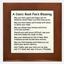 Comic Book Blessing Framed Tile