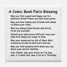 Comic Book Blessing Tile Coaster