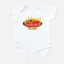 Flaming Crazy for Glass Infant Bodysuit