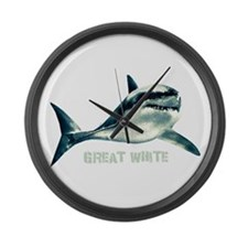 Great White Large Wall Clock