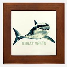 Great White Framed Tile