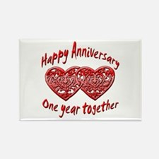 Funny 1st wedding anniversary Rectangle Magnet
