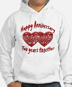 Cool 2nd wedding anniversary Hoodie
